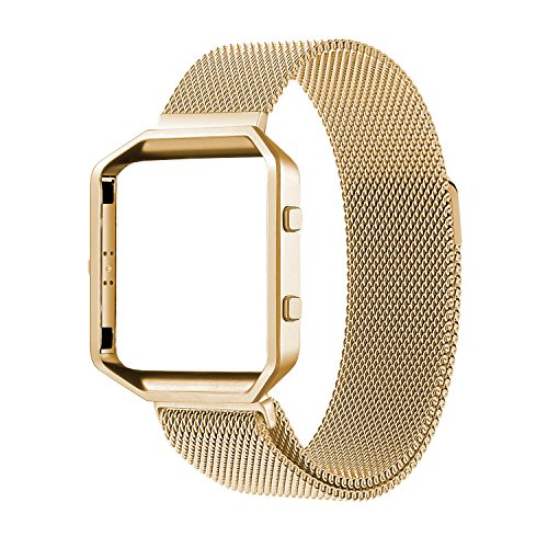 Oitom Fitbit Blaze Accessory Band,Small (5.5 6.7 in),Large(6.3 9.1),Frame Housing+Milanese loop Stainless Steel Band for Fitbit Blaze Smart Fitness Watch two size,8 color available