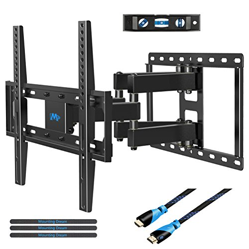 Mounting Dream MD2380 TV Wall Mount Bracket for most 26-55 Inch LED, LCD, OLED and Plasma Flat Screen TV, with Full Motion Swivel Articulating Dual Arms, up to VESA 400x400mm (Vesa Tilt Mount)