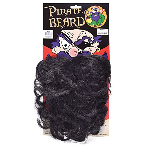 Bristol Novelty MB050 Wavy Pirate Beard Black, Mens, One Size ()