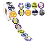 1000 stickers roll - Juvale Halloween Stickers - 1000-Count Party Sticker Roll for Kids, Festive Stickers for Students, Party Supplies, Trick-or-Treat, Goodie Bags, 8 Designs, 1.5 Inches Diameter