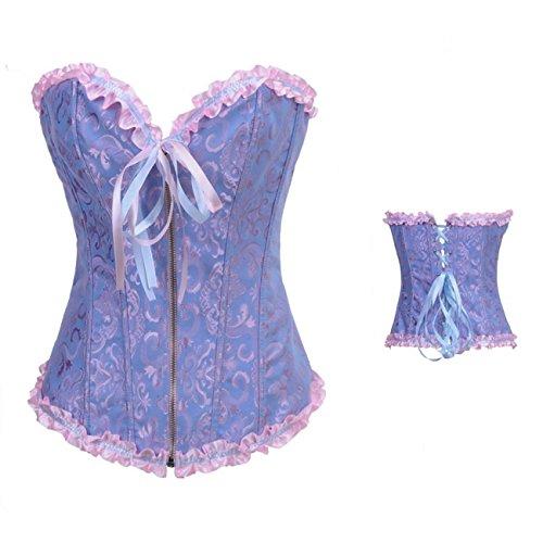 Valin FOB819A Mujer Azul Lencería y ropa interior Corsés y bustiers,XXL