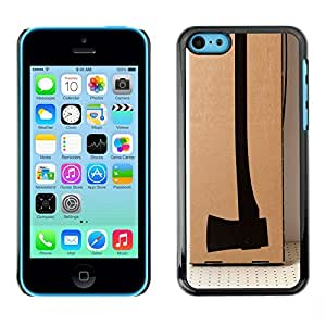 Planetar® ( Design Axe Deep Meaning Thought ) iPhone 5C Fundas Cover Cubre Hard Case Cover