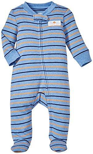 Carter's Baby Boys' Footie 115g062, Blue/Orange, Newborn