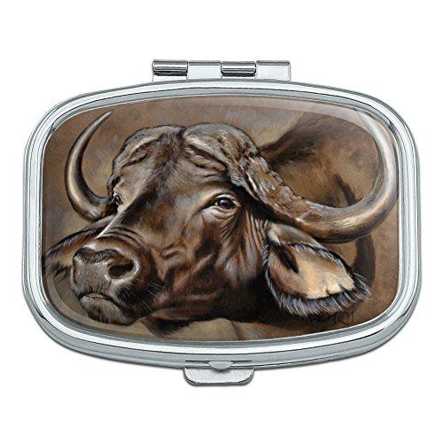 Cape African Buffalo Rectangle Pill Case Trinket Gift Box ()