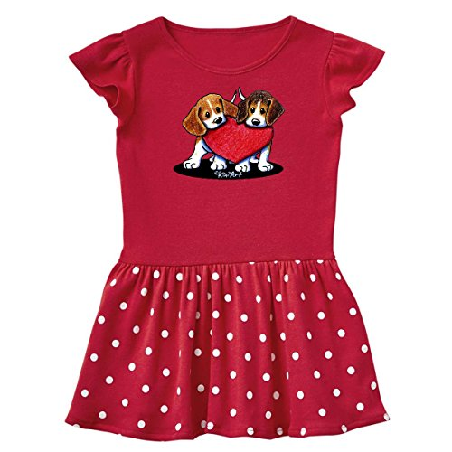 inktastic - Beagle Infant Dress 6 Months Red and Polka Dot - KiniArt 19ecf
