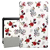 "PC Hardware : Case for All-New F i r e HD 10 Tablet - Auorld Premium PU Leather Slim Fit Smart Stand Cover with Auto Wake/Sleep for F i r e HD 10.1"" Tablet (7th Generation, 2017 Release), Rose Flower"