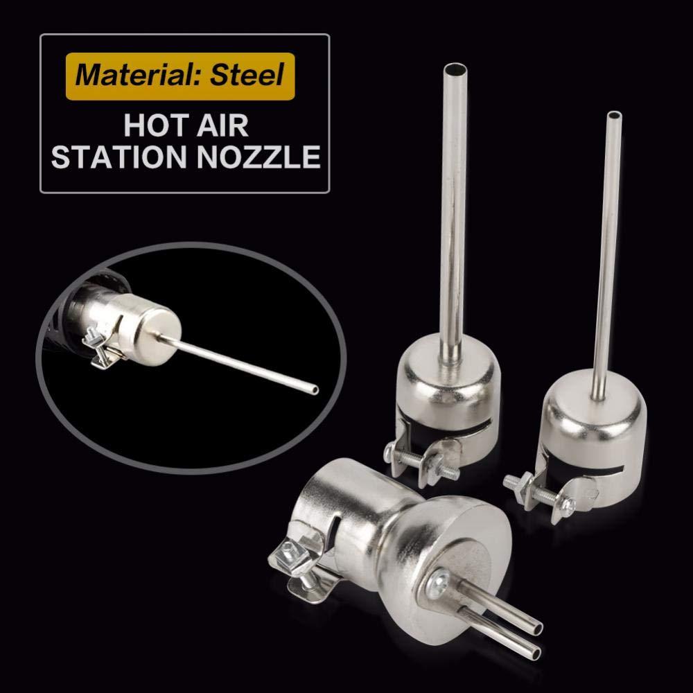 akozon Pistola de aire caliente Boquillas kits15/St/ücke Pistola de aire caliente Boquillas Kit para 850/Aire Caliente Soldadura Repair Tool accesorios