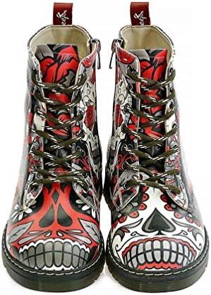 Skull Long Boots NMAR106