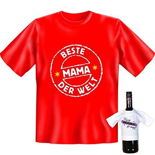 T-Shirt - Beste Mama der Welt - lustiges Sprüche Shirt für Mütter mit Humor - Geschenk Set zum Muttertag