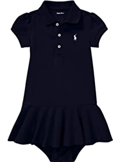 d6f9d1248 Ralph Lauren Genuine Classic Baby Girls Polo Dress Bloomer Set 6 mths  French Navy