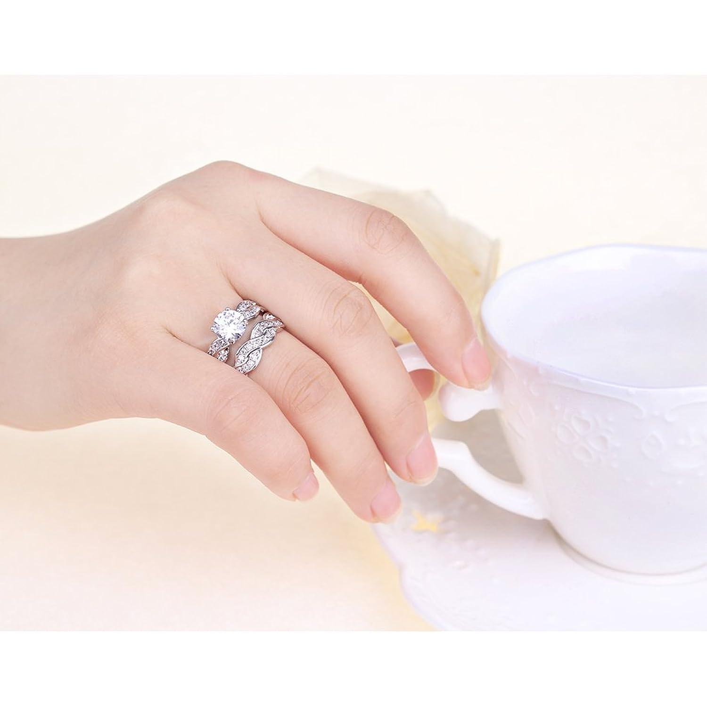 Amazon.com: Mall48 925 Sterling Silver 1.5ct Women Wedding ...