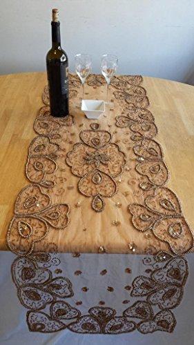 SAC Table Runner - Beaded Beige 56 x 20