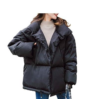 Abajo Chaqueta Abrigo de Invierno Cálido Grueso Femenino de Corto.: Ropa y accesorios
