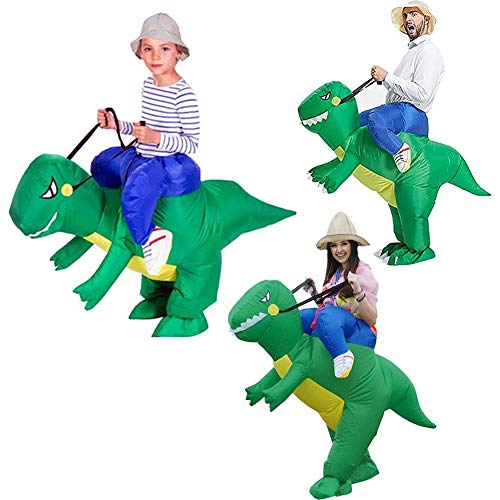 LeSharp Pretend Play, Kids Adults Inflatable Cartoon Ride Dinosaur Halloween Party Role Play Costume - S ()