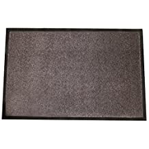 """Durable Corporation Wipe-N-Walk Carpet Entrance Mat, for Indoor Areas, 36"""" Width x 60"""" Length x 3/8"""" Thickness, Brown"""
