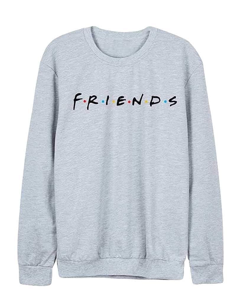 JEELINBORE Sudadera de Manga Larga de Otoño Invierno para Mujer Jersey Friends USA Pullover Tops Blusa: Amazon.es: Ropa y accesorios
