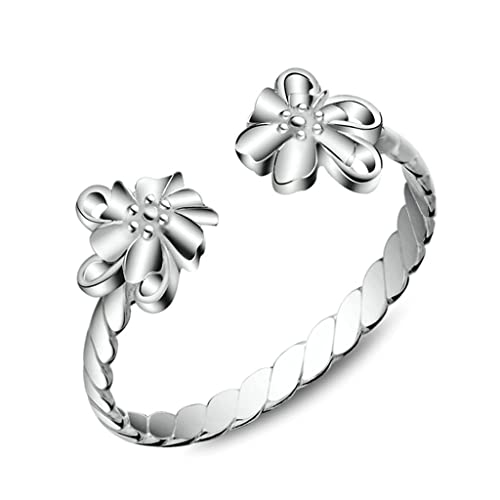 Aooaz Jewelry Material Silver Promise Ring Flower Wedding Rings Wedding Rings