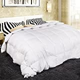 ARCESS Hypoallergenic Down Alternative Comforter, Twin Bed Comforter, All Season Bedding Duvet Insert with Corner Duvet Tabs, Fluffy, Warm and Soft, Twin, White