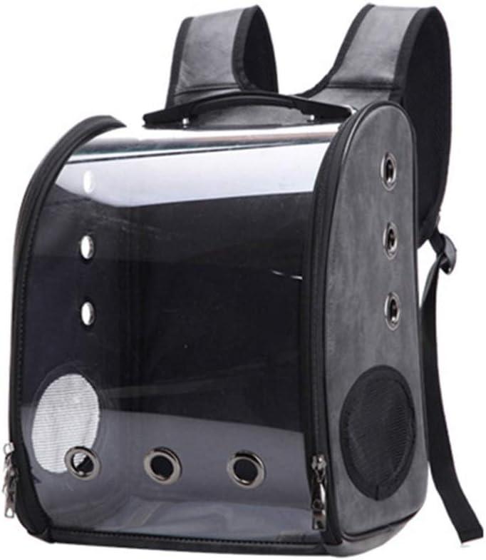 Bolso Transparente for Mascotas con Bolsa de Gato panorámica y portátil (Color : Gray)