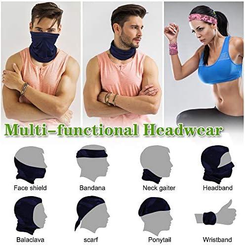 Binudum Neck Gaiter Unisex Sun Protection Breathable Cooling Camo Face Mask