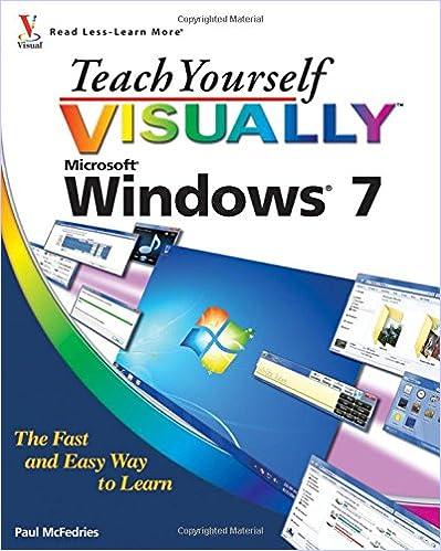 Written by Paul McFedries: Teach Yourself VISUALLY Windows 7 ...