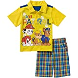 Paw Patrol Little Boy Short Sleeve Polo Shirt Short Set Size 5T