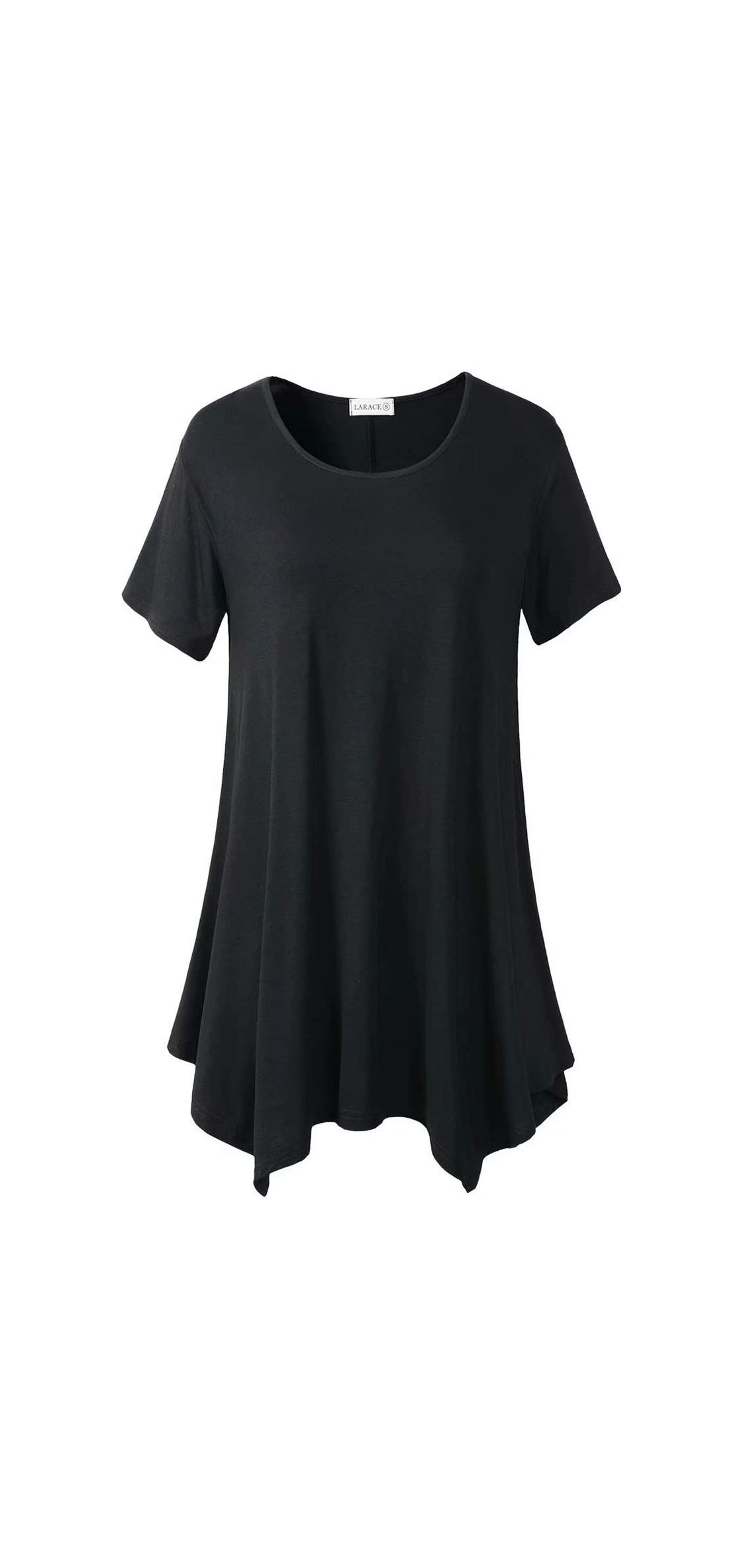 Womens Swing Tunic Tops Loose Fit Comfy Flattering T