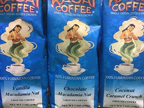 Kauai Coffee Company Vanilla Macadamia Nut Coffee 7 oz. 100% Hawaiian Grown