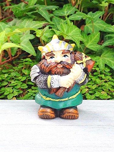 My Fairy Gardens Miniature - MEDIEVAL TIMES Viking Warrior Figure w Club - Mini Dollhouse Supply Expressions - Dollhouse Club