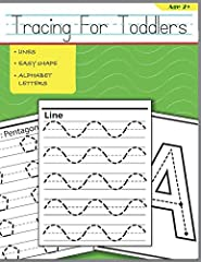 The Tracing For Toddlers helps early learning toddlers begin early tracing skills. Let your toddlers start using pencil for tracing practice with tracing activities for preschoolers in this book include tracing ABC, strokes, lines, curves, an...