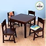 KidKraft 21453 Farmhouse Table and Chair Set - Espresso
