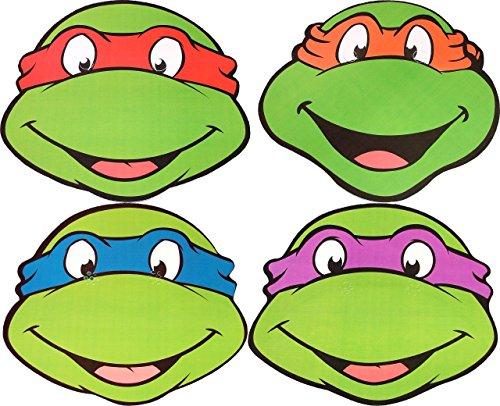 Teenage Mutant Ninja Turtles - MULTIPACK - Card Face Masks (Ninja Turtles Face)