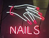 Nails Spa Neon Sign 17''x14''Inches Bright Neon Light for Business Beauty Spa Salon Shop Store