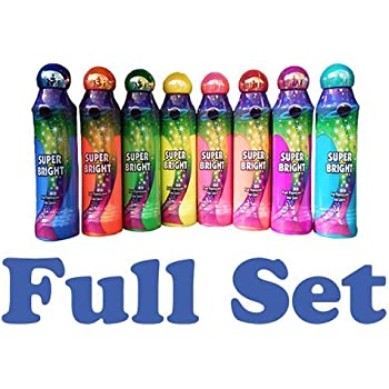 Pack Of Neon Glitter Bingo Daubers Set Of 5 Different Colors Brybelly