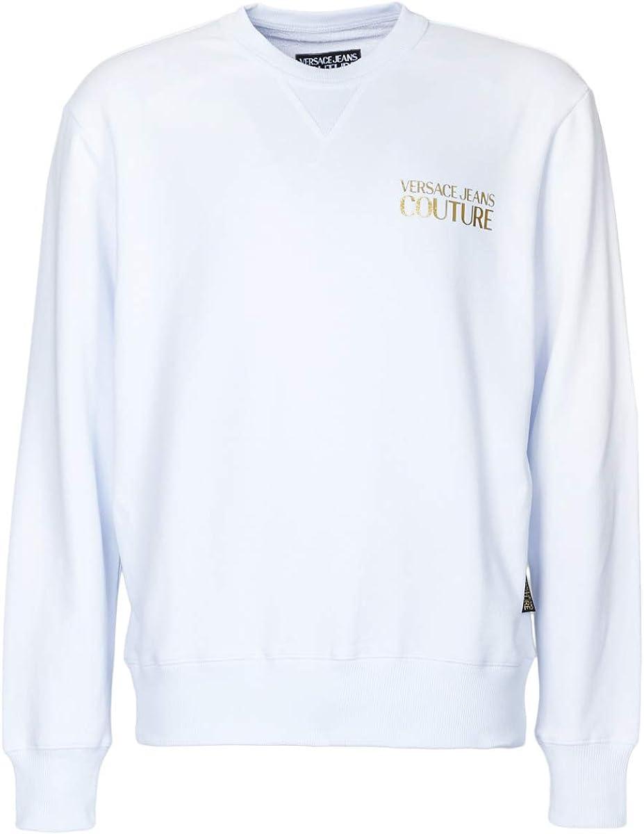 VERSACE JEANS COUTURE Mens Chest Logo Sweatshirt: Amazon.co