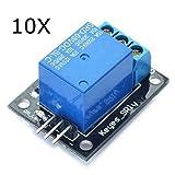 5x10 module - 10Pcs 5V Relay Module 5-12V TTL Signal 1 Channel High Level Expansion Board For - Arduino Compatible SCM & DIY Kits Module Board - 10 x 5V 1 channel relay module