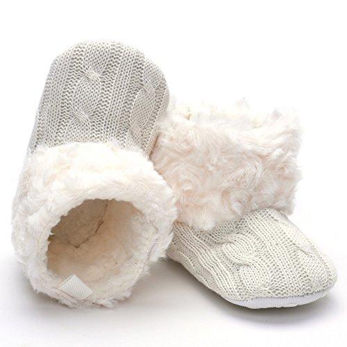 Peluche botas blanco blanco Talla:0-6month blanco