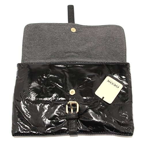 0423U pochette donna GEOX ecopelle nero black handbag woman Nero