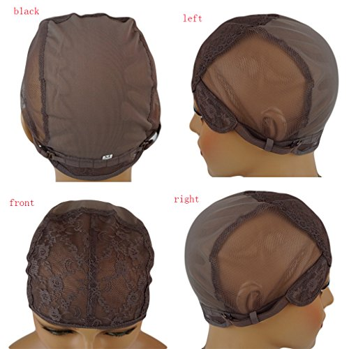 Nobel Hair Foundation Wig Caps for Making Wig with Adjustable Sturdy Straps Swiss Lace Medium Brown Color, Medium Size by Nobel Hair