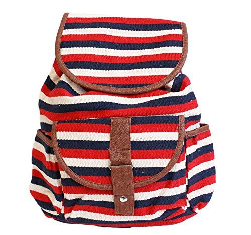 de à décontractée Festival Backpack Sac rayures à ethnique Red Sac College à TM épaule école dos PARIELLA Sac dos SExqg0wp