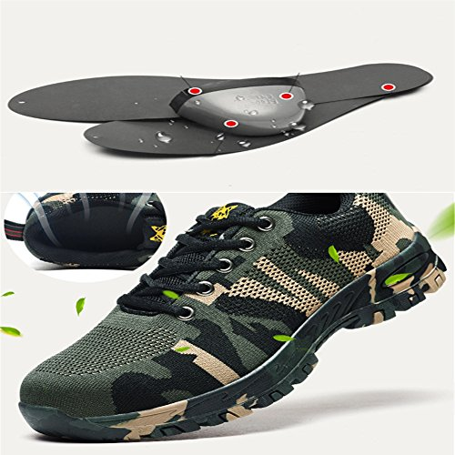 RuiSen Unisex Camouflage Labor Insurance Shoes, Work Safety Shoes Puncture Proof Safety Shoes Outdoor Shoes with Lace-up Breathable Wear-Resistant Anti-Slip (39/24.5cm) by RuiSen (Image #5)