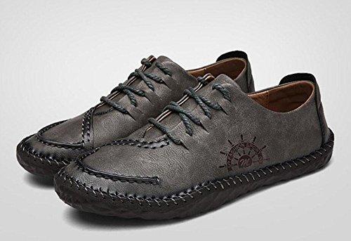 Ville De La Chaussures Vie Hommes Souliers Glter Bateau Pour Urbains Plates Britanniques Quotidienne Gris BXzqxadw1z
