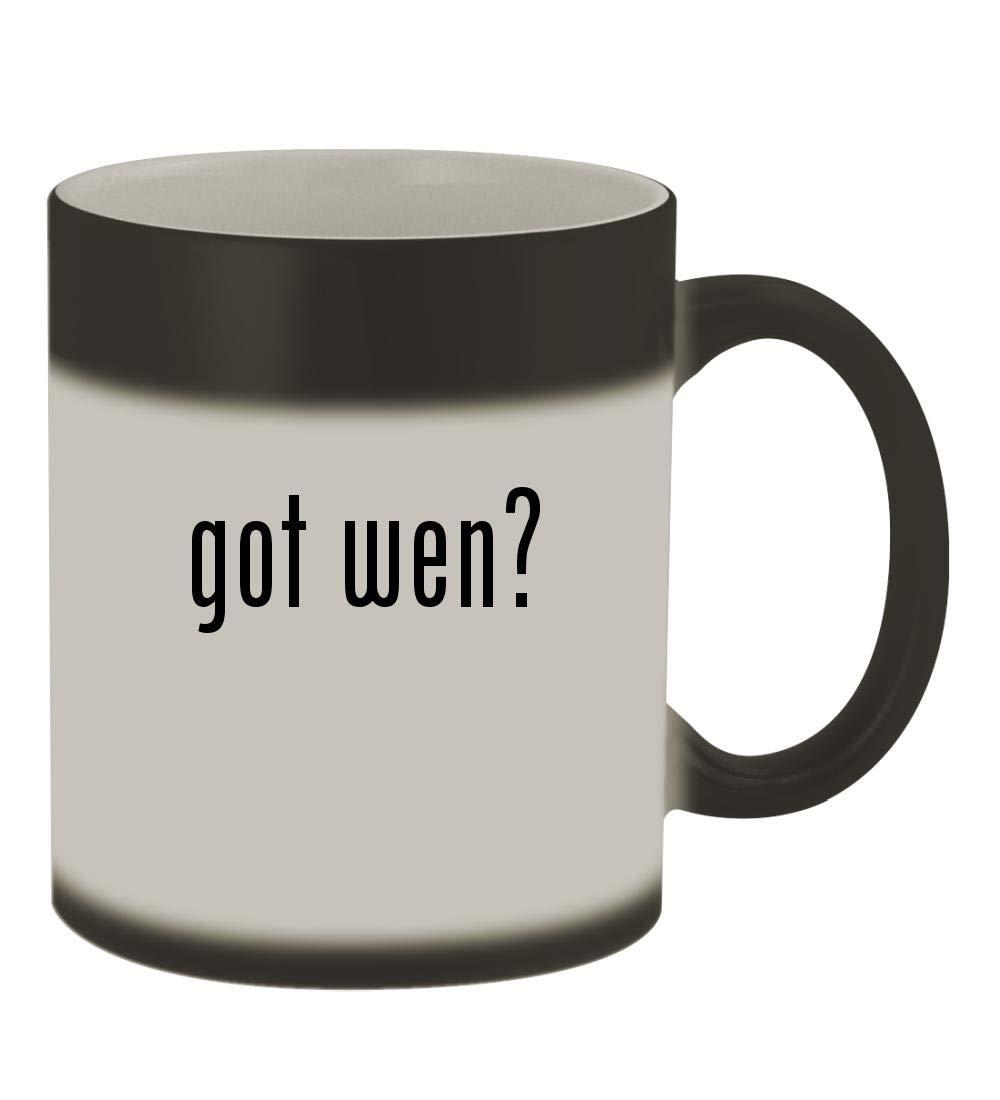 got wen? - 11oz Color Changing Sturdy Ceramic Coffee Cup Mug, Matte Black