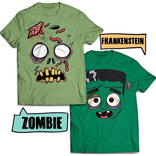 Walking Zombie Frankenstein Matching Couple Costume Halloween Costume Customized Handmade T-Shirt Hoodie/Long Sleeve/Tank Top/Sweatshirt
