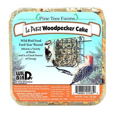 (BestNest 12 Pack of Pine Tree Farms Le Petit Woodpecker Cakes, 9 oz. each)