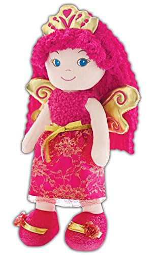 GirlznDollz Leila Fairy Princess Baby Doll Pink, Hot Pink, Gold (Fairy Doll Pink)