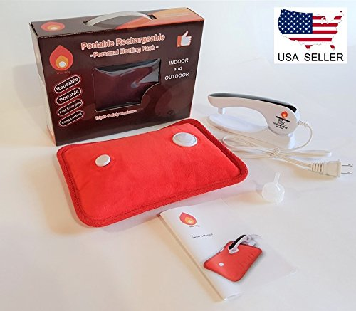 Rechargeable Portable Heat Pad/Pack Soft - Heaters Compare Water Electric