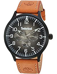Mens BLANCHARD Quartz Stainless Steel and Leather Casual Watch, Color Brown (Model. Timberland
