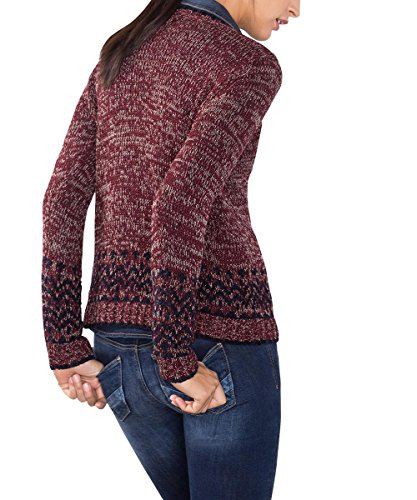 edc by Esprit 086cc1i010, Suéter para Mujer Rojo (BORDEAUX RED 600)