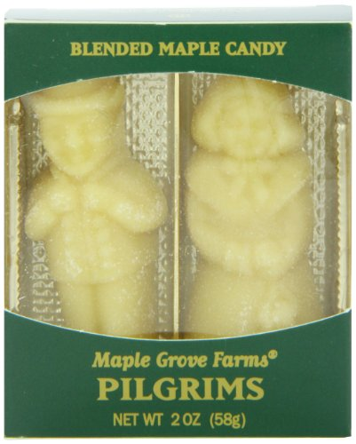 Maple Grove Farms Blended Maple Candy, Pilgrim Shape, 2 Ounce (Pack of 12)